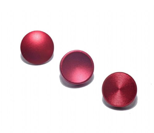 High Quality Shutter Button Soft Release Set Metal Flat/Concave/Convex Red